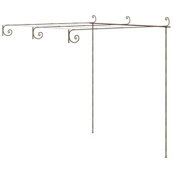 VidaXL Pergola ogrodowa, antyczny brąz, 3x3x2,5 m, żelazo