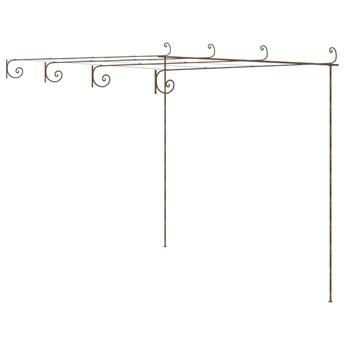 VidaXL Pergola ogrodowa, antyczny brąz, 4x3x2,5 m, żelazo