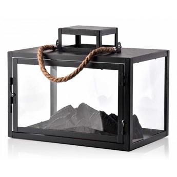 KANVAR Lampion KOMINEK LED 25,5x15,5x20,5cm black