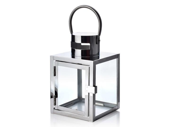 LEONE SILVER LATARNIA                   12x12x19 cm Metal Kolor Srebrny Lampion Kategoria Świeczniki i świece