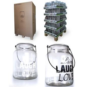 Zest.Lampionów szklanych 60szt 16xh21cm HOLLY