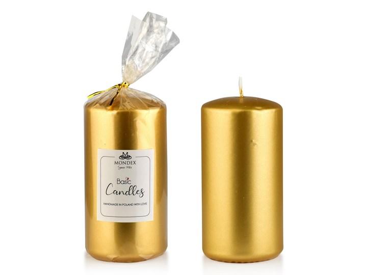 Świeca parafinowa 7x14cm metalik złoty Kategoria Świeczniki i świece Świeca Kolor Złoty
