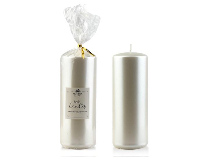 Świeca parafinowa 7x19cm metalik biała perła Świeca Kategoria Świeczniki i świece