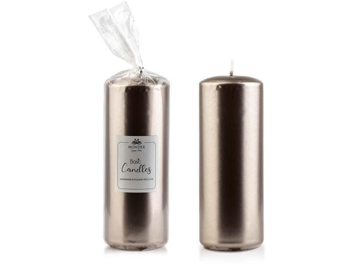 Świeca parafinowa 7x19cm metalik beżowy Świeca Kategoria Świeczniki i świece Kolor Srebrny