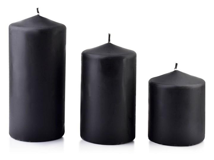 Świeca CLASSIC CANDLES Walec mały 8xh10cm czarna Kolor Czarny
