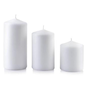 Świeca CLASSIC CANDLES Walec duży 8xh18cm biała