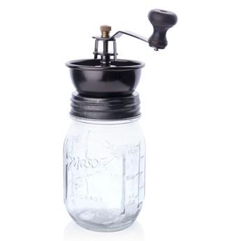 Młynek do kawy 7,5xh14/22,5cm S szklany  mechanizm ceramiczny