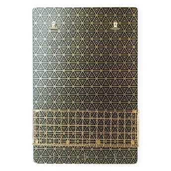 SARA GOLD Tablica z półką 40x6x60cm