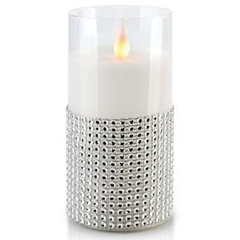SALMA Świeca LED 7,5xh15cm w szkle