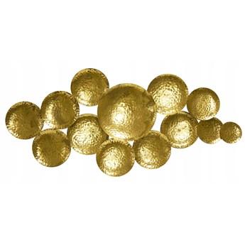 metaloplastyka ścienna złoto