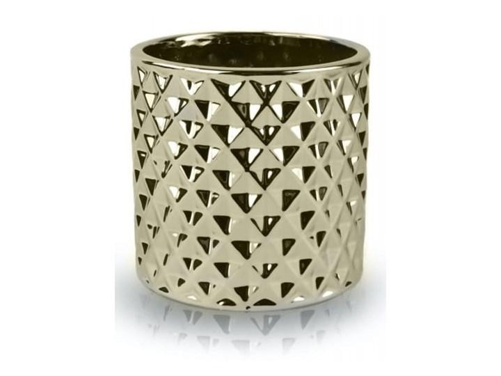 Doniczka tłoczona cylinder Metal Doniczka na kwiaty Kategoria Doniczki i kwietniki Ceramika Kolor Złoty