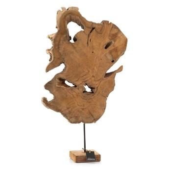Rzeźba drewno tekowe na stojaku