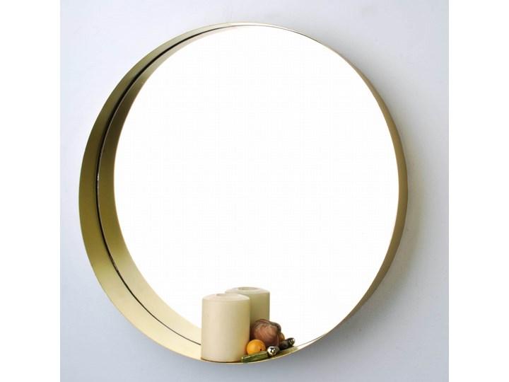 Lustro Złote Okrągłe Kolor Złoty Lustro z ramą Ścienne Styl Nowoczesny
