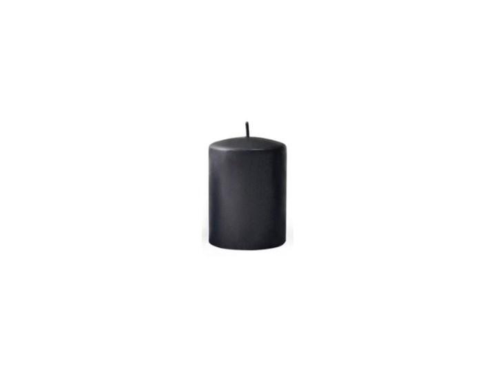 Świeca CLASSIC CANDLES Walec XL  9x24cm czarna Kolor Czarny
