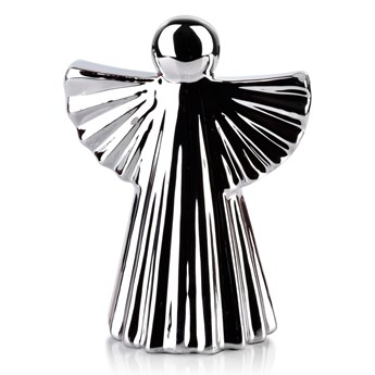 ANGEL Figura 8x5,4xh10,7cm srebrna