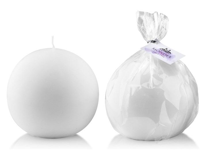 Świeca CLASSIC CANDLES Kula 8cm         biała Kategoria Świeczniki i świece Kolor Biały