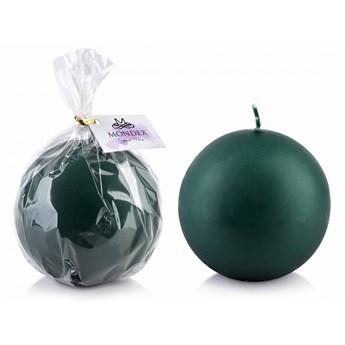 Świeca CLASSIC CANDLES Kula 10cm parafinowa zielona