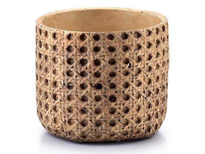 ROSITA Osłonka 13.5xh11.5cm Ceramika Osłonka na doniczkę Kategoria Doniczki i kwietniki Kolor Brązowy