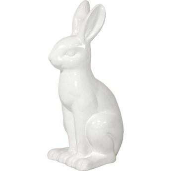 Zajączek figurka ceramiczna biała