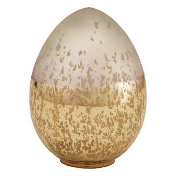 Jajko szklane błyszczące złote i srebrne matowe ozdobne S