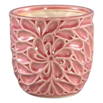 Doniczka ceramiczna szkliwiona Suzu Pink M
