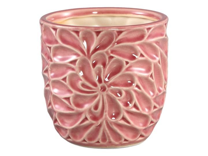 Doniczka ceramiczna szkliwiona Suzu Pink M Doniczka na kwiaty Ceramika Kolor Różowy