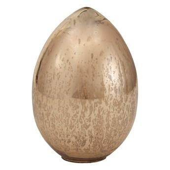 Złote błyszczące jajko ozdobne ze szkła XS