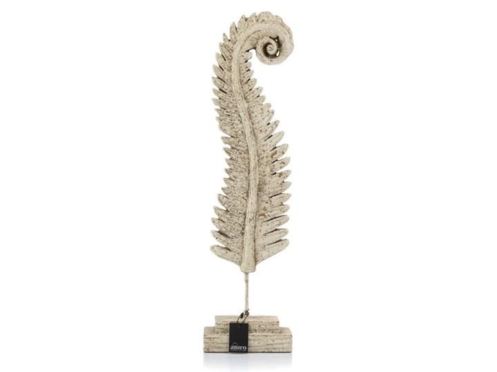 Rzeźba CALEA -liść paproci na podstawie_Aluro Kategoria Figury i rzeźby Kolor Beżowy