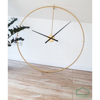 Zegar złoty metalowy XXL