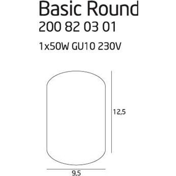 Spot LAMPA sufitowa BASIC ROUND C0068 Maxlight natynkowa OPRAWA metalowa tuba czarna