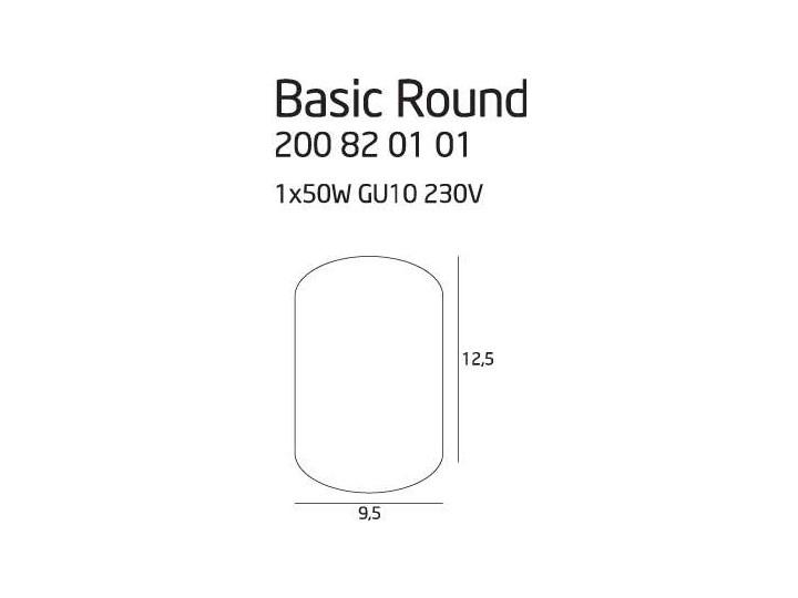 Downlight LAMPA sufitowa BASIC ROUND C0067 Maxlight metalowa OPRAWA tuba SPOT biała Oprawa stropowa Okrągłe Kolor Biały Oprawa led Kategoria Oprawy oświetleniowe