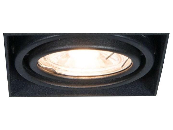 Wpust LAMPA sufitowa ONEON 94361-BK Zumaline metalowa OPRAWA kwadratowa do zabudowy czarna Kolor Czarny Oprawa stropowa Kwadratowe Oprawa wpuszczana Oprawa dekoracyjna Oprawa led Kategoria Oprawy oświetleniowe