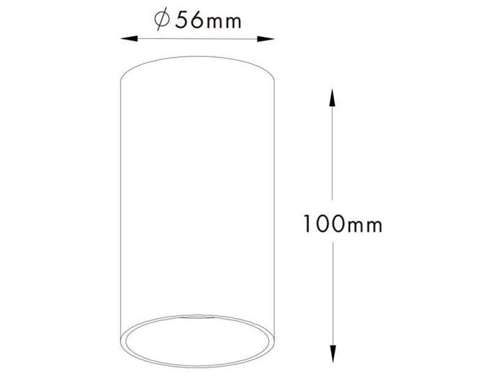Downlight LAMPA sufitowa TUBA 92679 Zumaline metalowa OPRAWA tuba biała Oprawa stropowa Oprawa led Okrągłe Kolor Biały