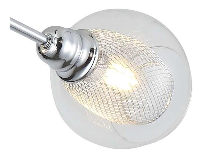 LAMPA sufitowa DIXI 36-61362 Candellux szklana OPRAWA plafon kule metalowe siatki sticks chrom przezroczyste Kolor Przezroczysty Oprawa stropowa Oprawa led Kategoria Oprawy oświetleniowe