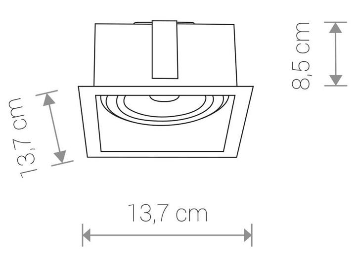 Wpust LAMPA sufitowa MOD 9417 Nowodvorski podtynkowa OPRAWA kwadratowa do zabudowy czarna Oprawa stropowa Oprawa dekoracyjna Kwadratowe Kolor Czarny Oprawa wpuszczana Kategoria Oprawy oświetleniowe