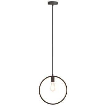 LAMPA wisząca LEVI 2568 Rabalux metalowa OPRAWA okrągła ZWIS ring loftowy ramka frame czarna