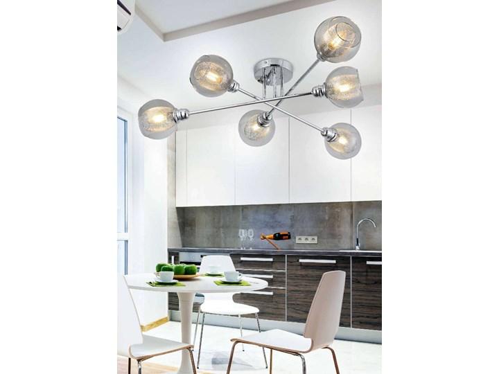 LAMPA sufitowa DIXI 36-61362 Candellux szklana OPRAWA plafon kule metalowe siatki sticks chrom przezroczyste Oprawa stropowa Kategoria Oprawy oświetleniowe Oprawa led Kolor Przezroczysty