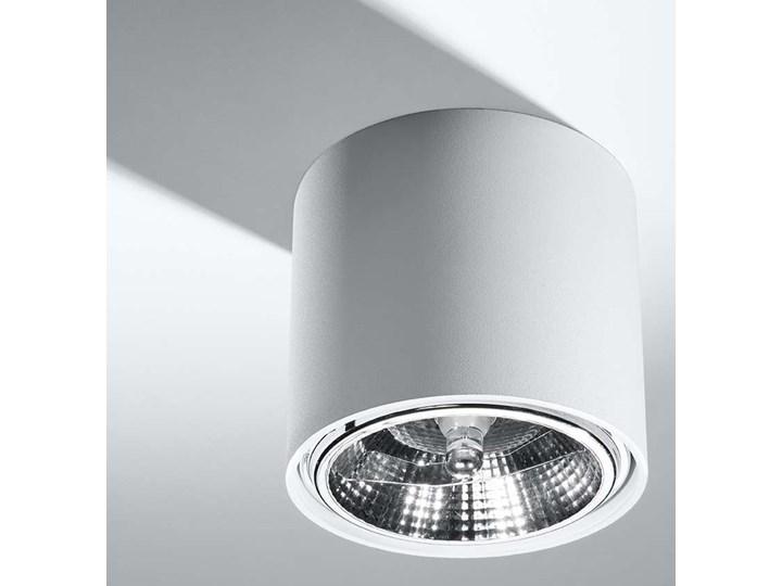Spot LAMPA sufitowa SOL SL695 metalowa OPRAWA downlight natynkowa tuba biała Okrągłe Oprawa led Oprawa stropowa Kolor Biały