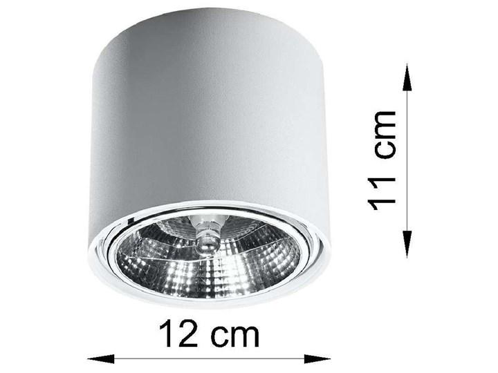 Spot LAMPA sufitowa SOL SL695 metalowa OPRAWA downlight natynkowa tuba biała Oprawa stropowa Okrągłe Oprawa led Kolor Biały