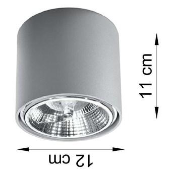 Sufitowa LAMPA downlight SOL SL696 natynkowa OPRAWA tuba metalowa szara