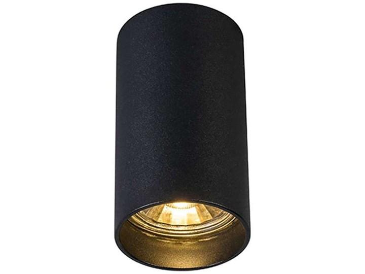 Downlight LAMPA sufitowa TUBA 92680 Zumaline tuba OPRAWA metalowa czarna Oprawa led Okrągłe Oprawa stropowa Kolor Czarny