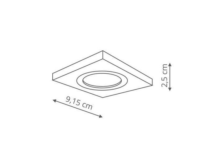 Wpuszczana LAMPA sufitowa METIS LP-2780/1RS WH Light Prestige metalowa OPRAWA kwadratowy WPUST do zabudowy biały