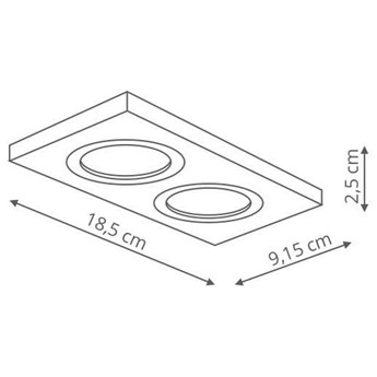 Wpust LAMPA sufitowa METIS LP-2780/2RS WH Light Prestige prostokątna OPRAWA wpuszczana regulowana biała