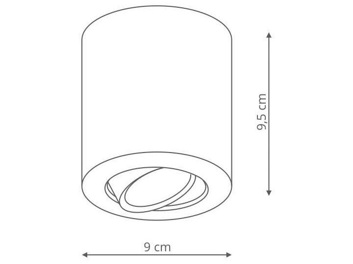 LAMPA sufitowa TULON LP-5441/1SM WH Light prestige metalowa OPRAWA tuba regulowany downlight biała