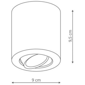 LAMPA sufitowa TULON LP-5441/1SM BK Light prestige regulowana OPRAWA metalowy downlight czarna