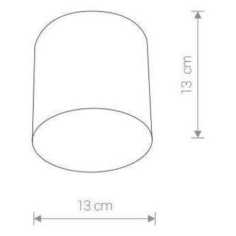 LAMPA sufitowa POINT PLEXI 6525 Nowodvorski metalowa OPRAWA downlight tuba biała