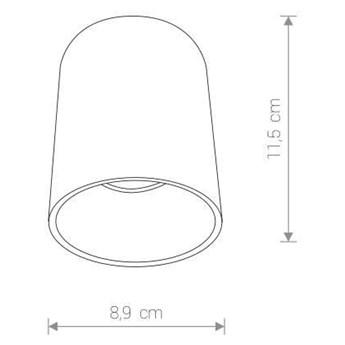 LAMPA sufitowa EYE TONE 8926 Nowodvorski downlight OPRAWA metalowa tuba biała złota