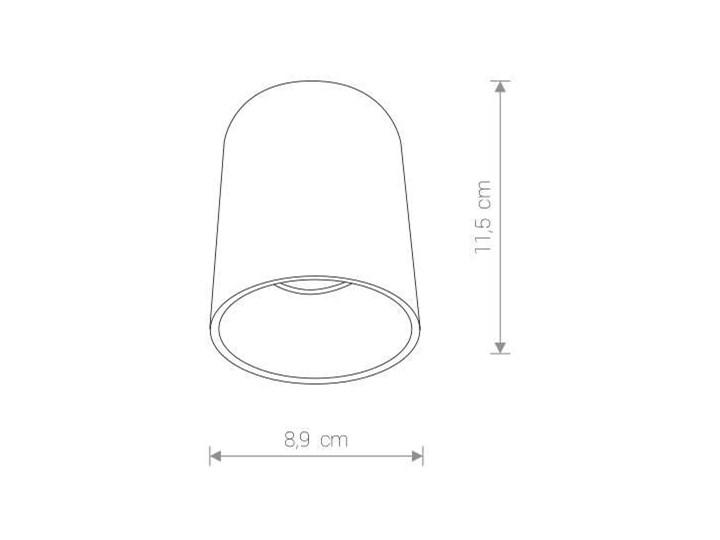 LAMPA sufitowa EYE TONE 8931 Nowodvorski metalowa OPRAWA tuba downlight czarna złota