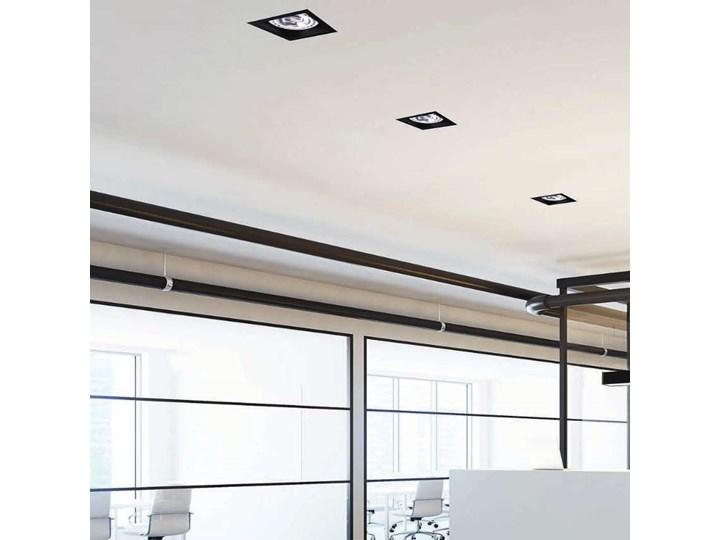 Wpust LAMPA sufitowa MOD 9417 Nowodvorski podtynkowa OPRAWA kwadratowa do zabudowy czarna Oprawa stropowa Kolor Czarny Oprawa wpuszczana Oprawa dekoracyjna Kwadratowe Kategoria Oprawy oświetleniowe