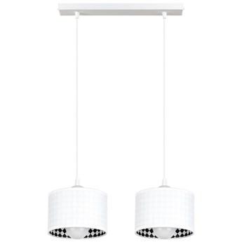 Żyrandol na lince LORI 2xE27/60W/230V biały